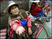 Indígenas de Potosí en Bolivia