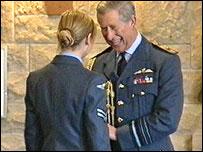 Prince Charles presents award