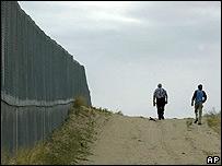 Muro en frontera entre EE.UU. y México
