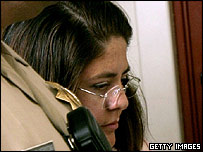 Janet Arvizo at the trial of Michael Jackson