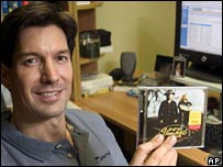 Mark Russinovich with CD which kicked off the controversy
