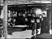 Admiral Togo in his battle room