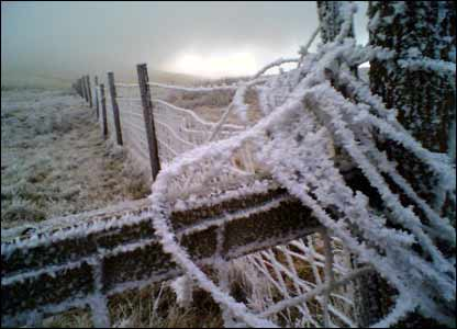 Martin Phillips, from Cardiff, saw this heavy frost on the way to the top of Pen y Fan in the Brecon Beacons