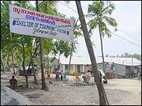 Relief camp in Alappad