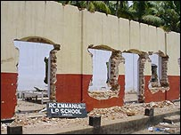 Tsunami damage in Alappad