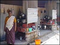 Temporary shelter in Alappad