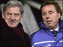 Milan Mandaric (L) and Harry Redknapp