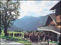 The mountain setting for Austria's Schubertiade