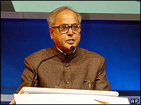 Indian Defence Minister Pranab Mukherjee