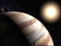 Artist's concept of a distant world (BBC)