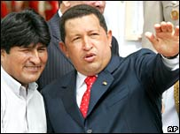 Evo Morales and Hugo Chavez