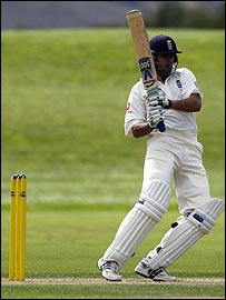 Usman Afzaal in action for England