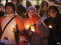 Candlelight vigil in Bad Reichenall