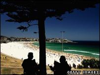 Bondi beach, Sydney, 1 Jan 2006