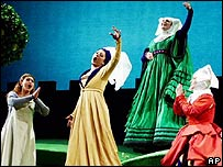 Imagen de un ensayo de una ópera de Verdi
