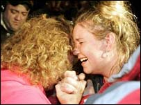 Relatives of trapped US miners react to the news of their rescue
