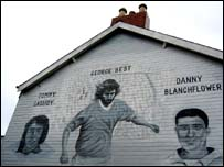 Footballer George Best features on one of the newer murals