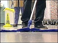 Image of hospital cleaning
