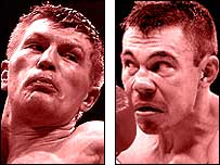 Ricky Hatton (left) and Kostya Tszyu
