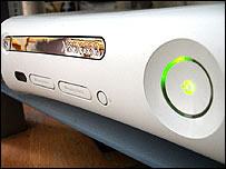 Close-up of Xbox 360 console, Microsoft