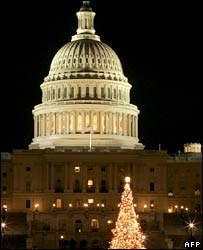 The Capitol before Christmas