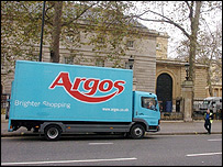Argos delivery lorry