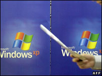Windows XP on billboard, AFP
