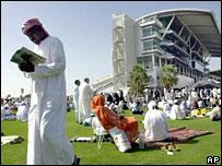 Millennium Grandstand at the Nad al-Sheba racecourse