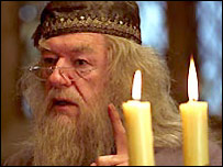 Michael Gambon as Professor Dumbledore in The Prisoner of Azkaban