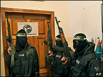 Militants occupy a Gaza election office