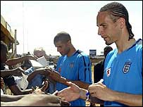 Rio Ferdinand on an FA goodwill mission in Malawi