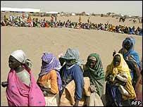 Sudanese refugees in Darfur