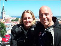 Simon and Monika Newbound in Tallinn (Pictures courtesy of Simon and Monika Newbound)