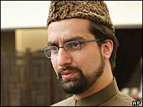 Mirwaiz Umar Farooq, chairman of the All Party Hurriyat Conference moderate faction