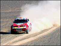 Stephane Peterhansel in action in the Dakar Rally
