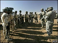 US troops train Iraqis