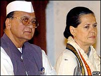 Sunil Dutt and Sonia Gandhi