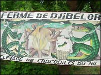 Signpost to Djibelor Farm