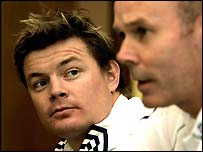 Brian O'Driscoll and Sir Clive Woodward - Lions captain and coach