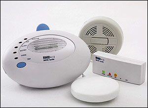 Photo of the RNID smoke alarm