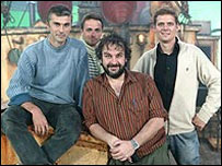 Director Peter Jackson with the Ubisoft team