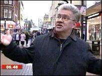 Poet Ian McMillan in Wolverhampton
