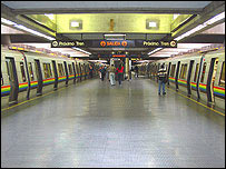 Platform at Chacao station