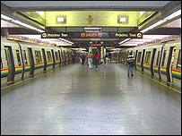 Platform at Chacao station