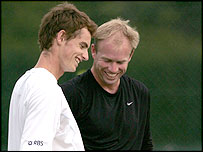 Andy Murray (left) and coach Mark Petchey