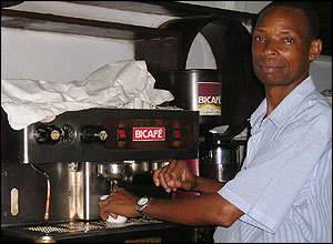 Man making coffee