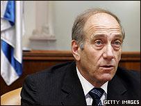 Ehud Olmert, primer ministro en funciones en Israel