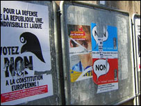 'No' posters in Strasbourg