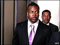 Chris Tucker arriving in court on Wednesday