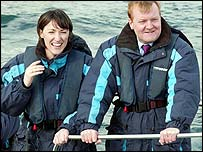Julia Goldsworthy and Charles Kennedy on a trip around Falmouth